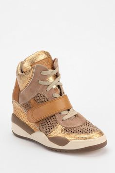 3001f9acb194 Ash Funky Open Mesh Hidden Wedge High-Top Sneaker  UrbanOutfitters Wedge  High Tops