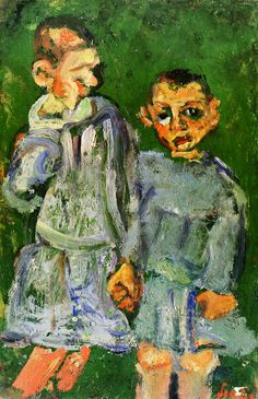 Chaim Soutine: Two children of public assistance. ca. 1937. Private collection.