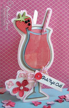 Scrappin Cookie: Scrappy Moms Stamps April Release Party - Strawberry Daiquiri