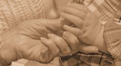 Hands...Generation picture 91 Year old great great grandmother and a 18 month old great great grandson....LOVE....
