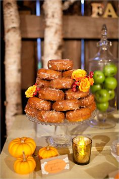 I wouldn't want it as my cake but I think I'd be really cute to have on the dessert table. Plus who doesn't love donuts.
