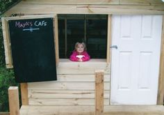 Handyman reader Mike Bruni used his DIY skills to build a cubby house for his daughter Maya. Handyman Magazine, Cafe Style, Cubbies, Maya, Daughter, Windows, Building, Projects, House