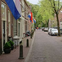 Kings day in The Netherlands I live on the end of the street
