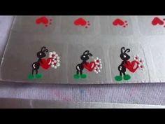 unhas de gatinho aprenda a fazer ADESIVOS artesanal com palito cat nail art - YouTube