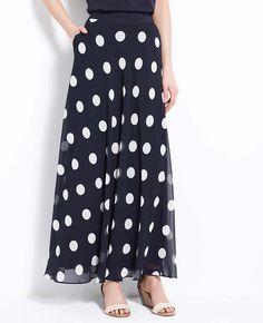 Polka dot maxi- always love black and white polka dots- a classic