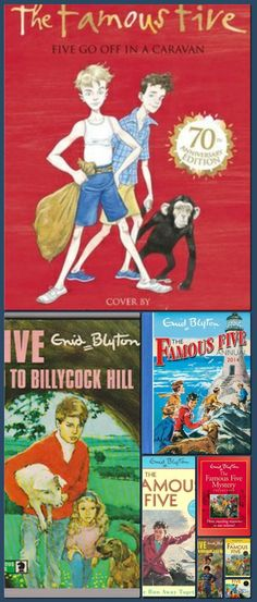 Famous Five Books, The Famous Five, Collage Making, Mystery, Novels, Fiction, Romance Novels