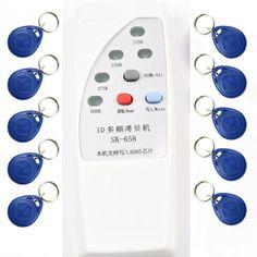 4 frequentie RFID Copier Duplicator Cloner ID EM EM4305 t5577 5200 reader writer 10 stks T5577 5200 beschrijfbare keyfob
