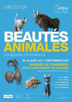 Exposition céramique Beautés Animales, Prieuré de Charrières (Drôme) jusqu'au 11 septembre 2016