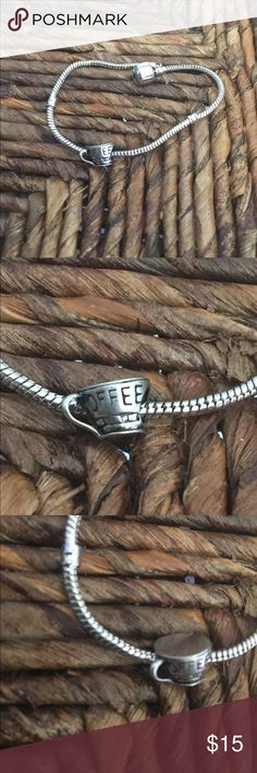 Coffee ☕️ cup charm Brand New, will fit Pandora bracelets, this listing is for the charm only. Boutique Jewelry