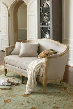 Adreanna Bergere Settee - relaxed interpretation of classic Louis XV design | Soft Surroundings