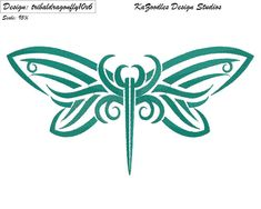 Tribal Dragonfly by KaZoodles on Etsy