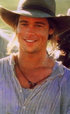 Brad Pitt...Legends of The Fall.....this is when i knew I had really fallen for him! The first time I figured out what all the buzz was about!! One of my fave movies of all time!