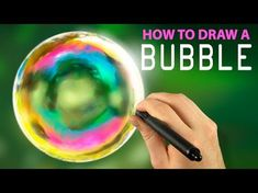 How To Draw A Bubble - Digital Painting with Corel Painter Bubble Drawing, Bubble Painting, Bubble Art, Acrylic Tutorials, Art And Craft Videos, Corel Painter, Tangle Art, Soap Bubbles, Digital Art Tutorial