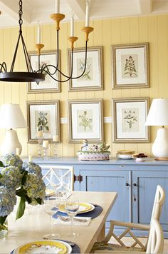 custard yellow dining rom
