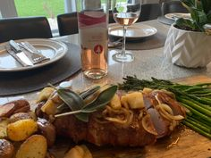 Sprucewood Shores Estate Winery Rose 2018 with Bacon-Wrapped Pork Loin w Apples & Sage. Cooking Onions, Kitchen Twine, Thick Cut Bacon, Essex County, Complete Recipe, Pork Loin, Bacon Wrapped, Wineries, Vegan Friendly
