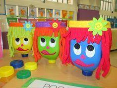 Escuela con Vida: Cuenta con Aurora, Clara y Vicenta Maths Area, Preschool Education, Class Decoration, Conte, Math Centers, Ideas Para, Aurora, Diy And Crafts, Recycling