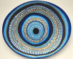 Decorative Plate Evil Eye Original by biancafreitas on Etsy