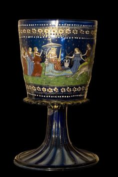 "Glass Chalice ""The Triumph of Justice"", Murano (Venice), late15th century, Bargello Museum, Florence, Italy"