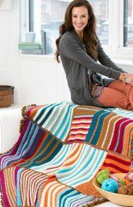 Get a modern look in your home with this Bars and Stripes Free Crochet Pattern. With blocks of color and a beautiful border, this throw is sure to become a household favorite in no time.