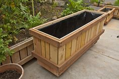 """Rolling Pedestal Planter on and not on wheels.  Heights up to 42.""""  Fully Assembled. Made of Sustainable FSC or SFI certified grown timber.   Lined with triple layered agricultural non PVC pond liner, plumbed for water drainage capture / conservation, hardware and assembly built for commercial installations.  Best it is not a kit.  planting instructions.  Last years without maintenance. Indefinitely, generations to come with maintenance!  Handmade California, USA  www.RollingPlanter.com"""