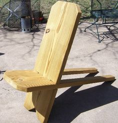 "viking chair | foot high Viking chair in 2""x12"" pressure treated lumber"