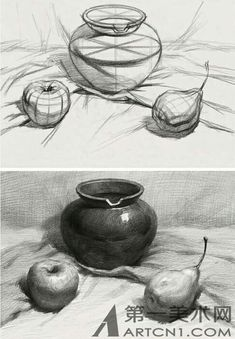 Trendy Nature Drawings Pencil Sketches Still Life Ideas Drawing Studies, Drawing Skills, Art Studies, Drawing Techniques, 3d Drawings, Drawing Sketches, Pencil Drawings, Sketching, Still Life Sketch