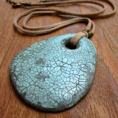 Pendant Necklace Lightweight Recycled Paper Mache by studioRenee, $35.00