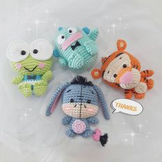 Thank you for supported me #amigurumi#amigurumis#crochet#crocheting#crochetlove #crochetoninstagram #handmade#hobby#doll#dolls #sale#winniethepooh #eeyore #tigger #sanrio #keroppi #keychain