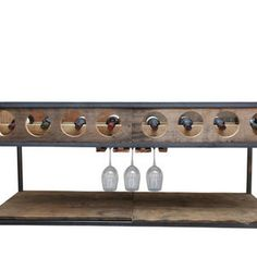 Great use of recycled materials.  Wine storage and coffee table in one!  Michael Graham Designs – FleaPop