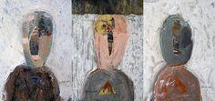 BOCCACINO: TRIPTYQUE 2  techniques mixtes sur carton 3(17cm x 12cm) jeanboccacino-paintings.tumblr.com/
