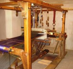 Velvet weaving loom in Kashan . (photo by Michelle Gilder from Touring Iran )