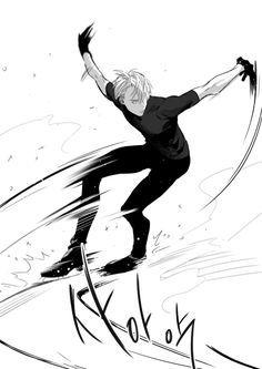 Viktor from Yuri! On Ice Anime Yugioh, Anime Pokemon, Anime K, Yuri Plisetsky, ユーリ!!! On Ice, Ice Ice Baby, Ice Skating, Figure Skating, Yuri On Ice Victor