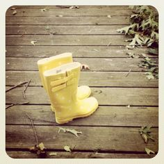 My rain boots for spring.