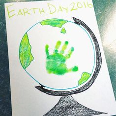 Handprint Earth Day Globe Craft - Crafty Morning