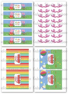 Food labels -Instant Download Party Kit Peppa Pig