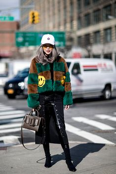 Here are all the major street style looks from New York Fashion Week Fall 2018.