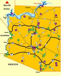 TakeMyTripcom State Map Arizona Attractions Western US Road