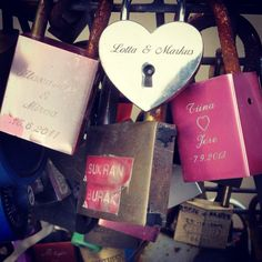 Helsinki; Bridge of Love. Engrave your names on a lock and throw the key into the sea.
