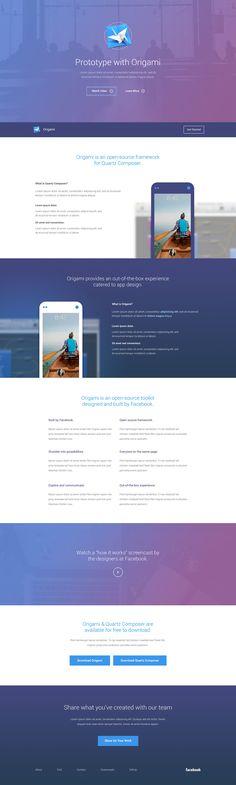 jpg by Seán Halpin Web Design Gallery, Modern Web Design, Creative Web Design, Web Ui Design, Web Design Trends, Best Landing Pages, Origami, Ui Web, Website Design Inspiration
