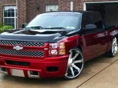 I absolutely fancy this paint color for this car Dropped Trucks, Lowered Trucks, Heavy Duty Trucks, Gm Trucks, Cool Trucks, Pickup Trucks, Dually Trucks, Chevrolet Tahoe, Chevrolet Trucks