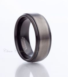 Black Tungsten Ring Gun Metal Tungsten Carbide Wedding Band Anniversary Ring Engagement Band Male Women Custom Size by CleanCastingJewelry on Etsy https://www.etsy.com/listing/199024256/black-tungsten-ring-gun-metal-tungsten