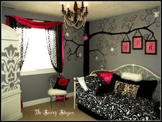 I like this for a girls room, the tree thing could work for a baby room over the crib!