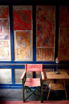Textile Designs at Rodney Archer's House: The original-hand painted gouache on squared-paper patterns which were turned into punched card templates for weaving into silks and satins on machine looms.