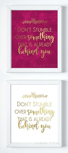 Don't stumble over s...
