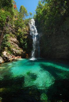 Cachoeira Sta Barbara em Cavalcante, Goiás, Brasil (Chapada dos Veadeiros)