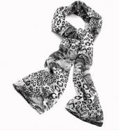 Black and white scarf Tiger Print, Zebra Print, Black And White Scarf, Animal Print Scarf, White Scarves, Womens Scarves, Women Accessories, Lady, Fashion