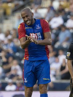 Andros Townsend #17 of Crystal Palace reacts during the match against the Philadelphia Union at Talen Energy Stadium on July 13, 2016 in Chester, Pennsylvania.
