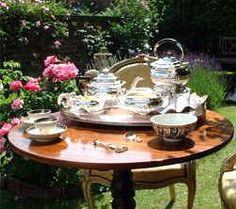 Tea is meant to be enjoyed with all of your lovey things, even when you are out in the garden. It's an event in your day!