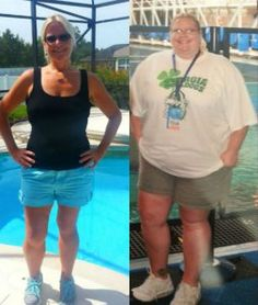 "In October 2011, Jen Corn began a life-altering ""road trip,"" facing the reality she had denied for years -- her obesity. This image shows Corn before and after her weight loss."