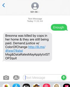 Text 55156 with the words enough to help Breonna get justice. Her killers are still out on the street. Today would have been her 27th birthday. 27th Birthday, Text Messages, Be Still, Street, Words, Texting, Roads, Text Messaging, Texts